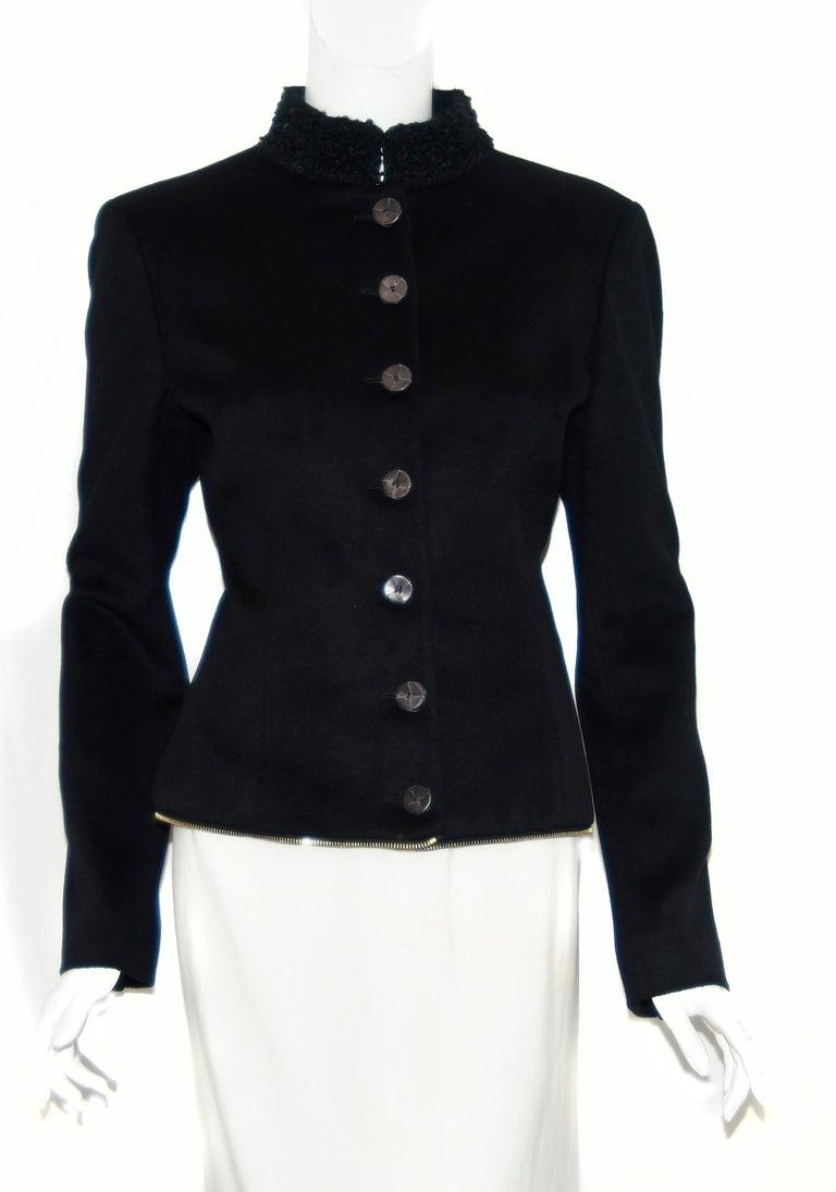 Alexander McQueen Black Adaptable Wool & Cashmere Coat For Sale 5
