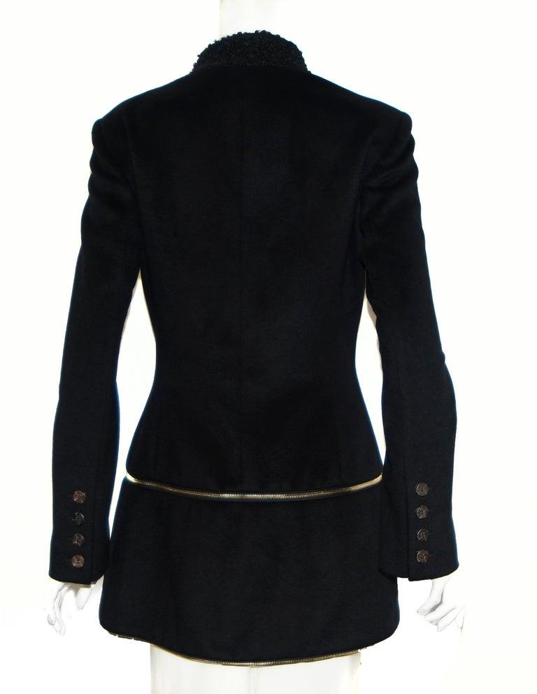 Alexander McQueen Black Adaptable Wool & Cashmere Coat For Sale 3