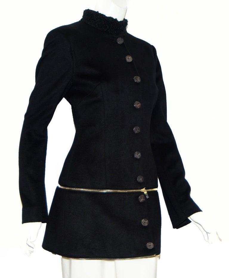 Alexander McQueen Black Adaptable Wool & Cashmere Coat For Sale 4