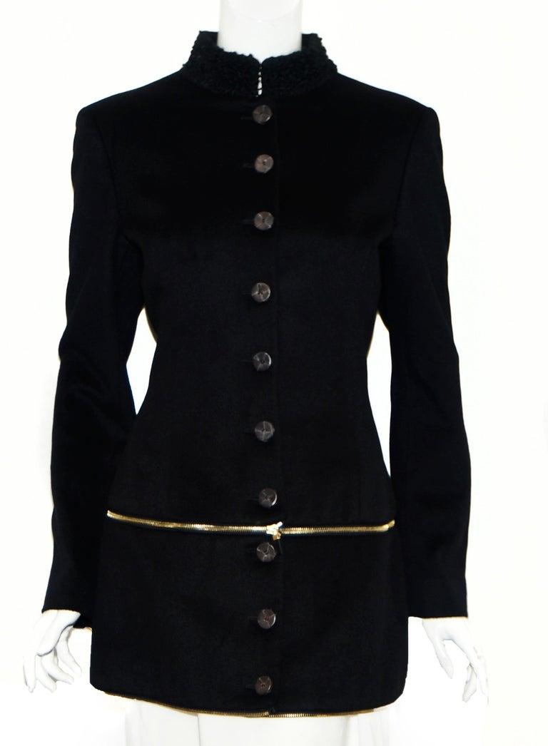 Alexander McQueen Black Adaptable Wool & Cashmere Coat For Sale 1