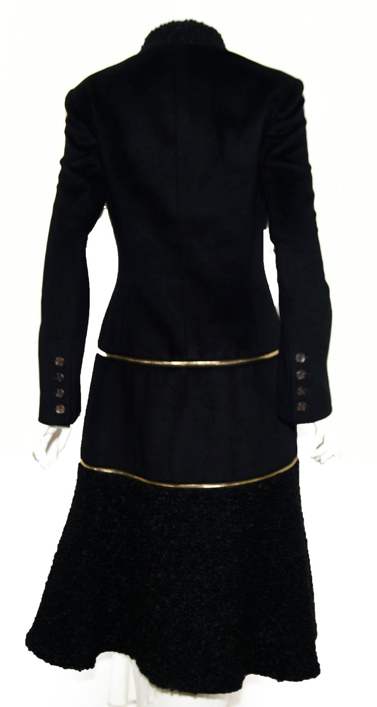 Alexander McQueen Black Adaptable Wool & Cashmere Coat In Excellent Condition For Sale In Palm Beach, FL