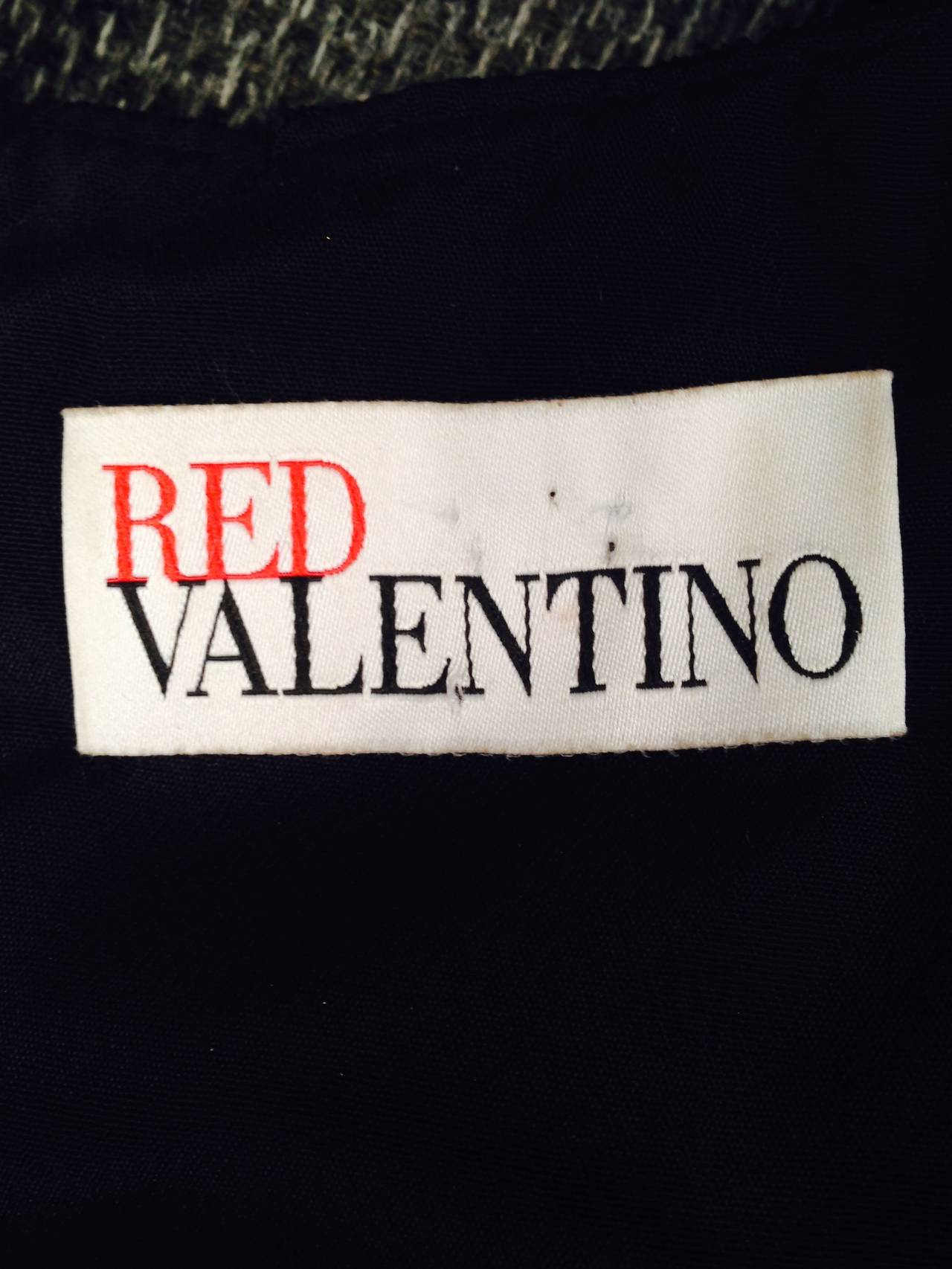 Brand New RED Valentino Black Cocktail Dress With Fuschia Silk Hem For Sale 3