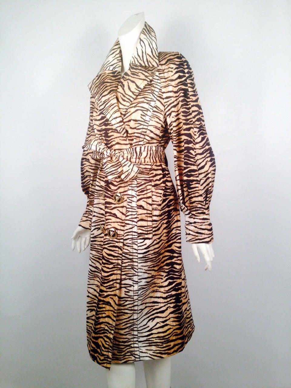 Escada Tiger Stripe Raincoat For Sale At 1stdibs