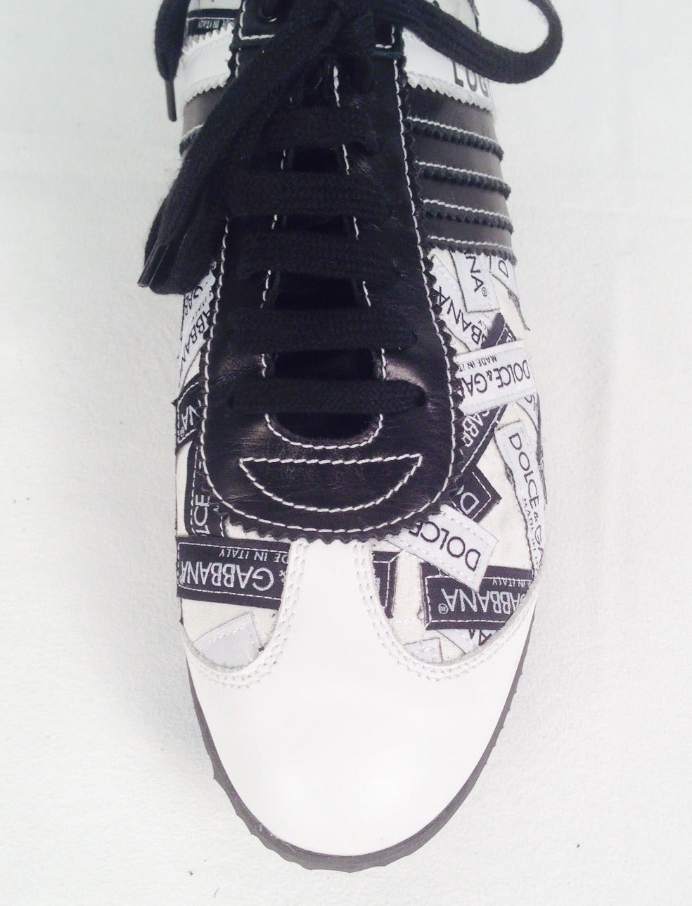 Black Dolce & Gabbana Logo Sneakers For Sale