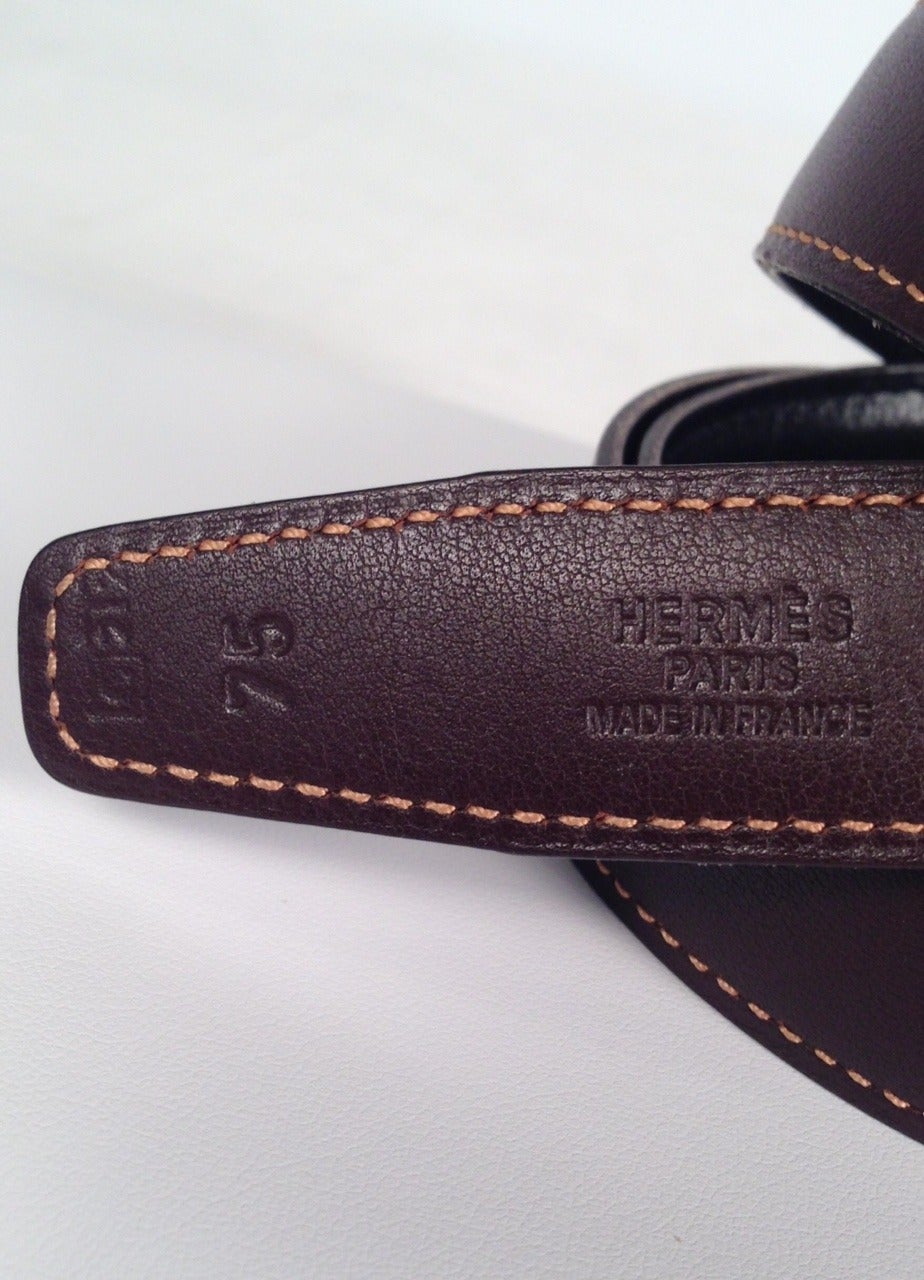 Hermes Reversible Belt With Small Constance Gold Tone Buckle 5