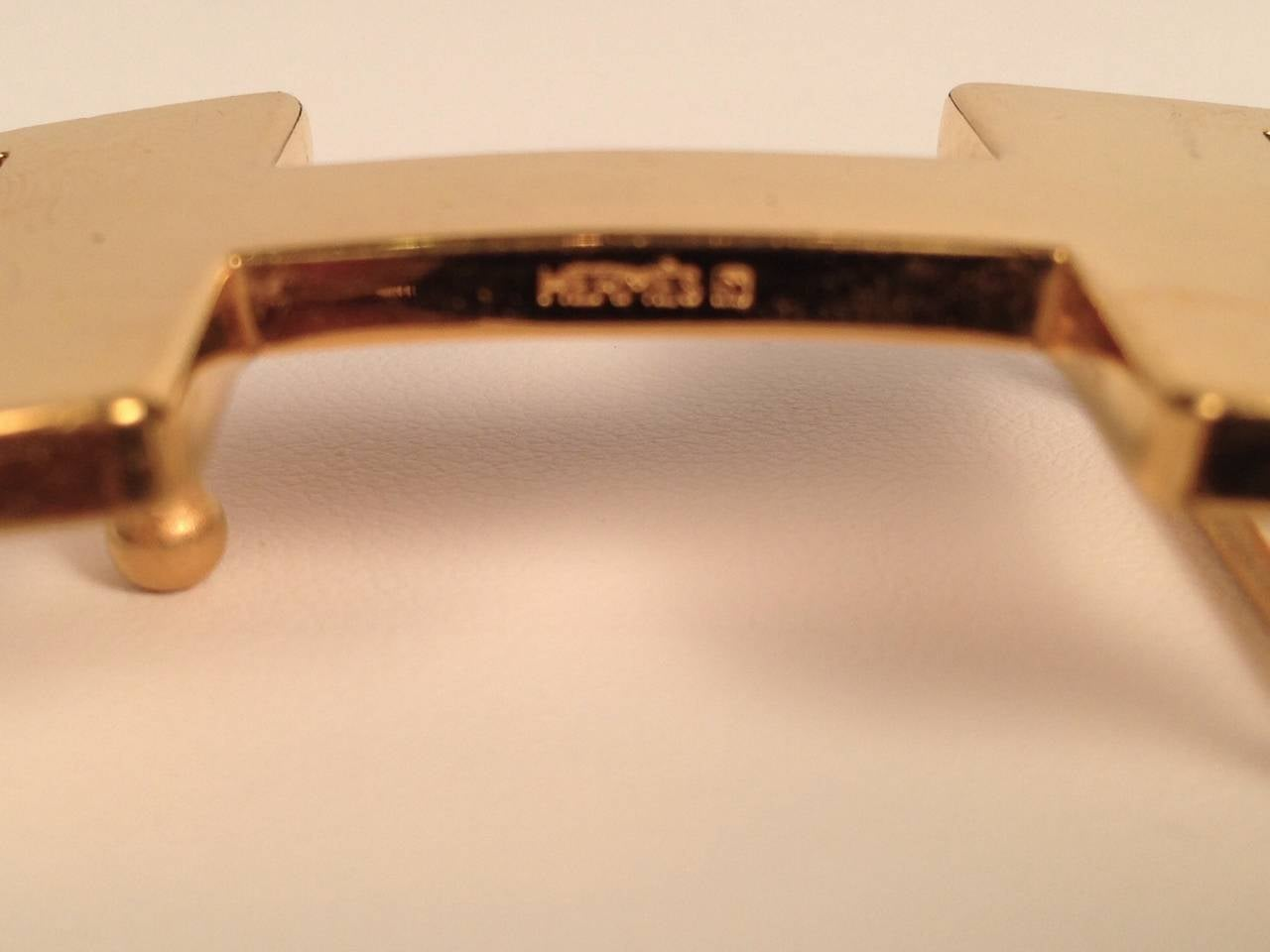 Hermes Reversible Belt With Small Constance Gold Tone Buckle 4