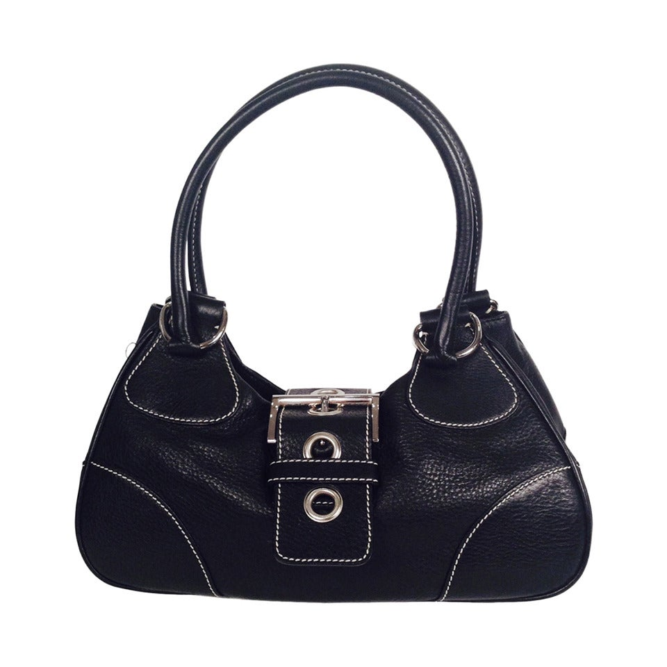 Prada Daino Box Nero Shoulder Handbag For