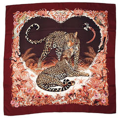 New Hermès Jungle Love Silk Twill Carre by Robert Dallet