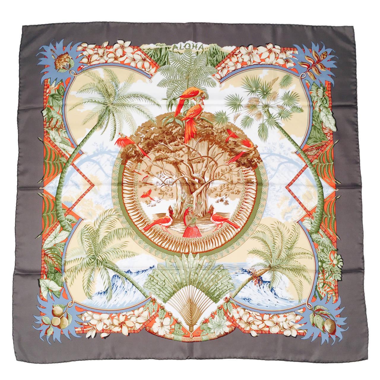 Hermès by Laurence Bourthoumieux Silk Twill Scarf