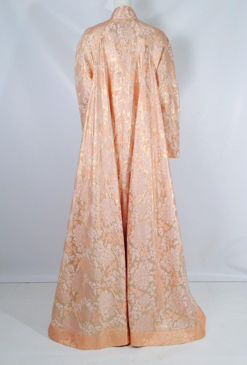 Vintage Fernando Sanchez 100 Silk Brocade Opera Coat For