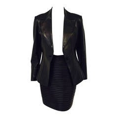Jitrois Stretch Leather Skirt Suit