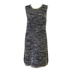 1990s Chanel Sleeveless Multi Color Knit Shift Dress
