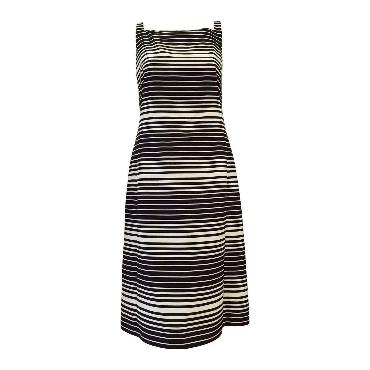 Akris Punto for Bergdorf Goodman Striped Sleeveless Shift