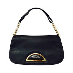 Christian Dior Lambskin Shoulder Bag with Gold Tone Hardware