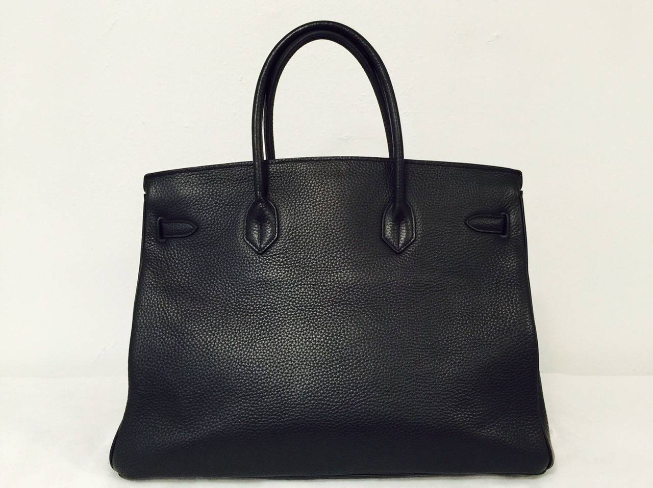 2010 Hermès Black Birkin Togo 40 With Gold Hardware 2