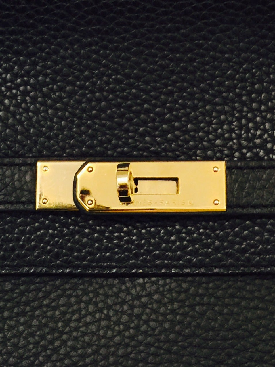 2010 Hermès Black Birkin Togo 40 With Gold Hardware 5