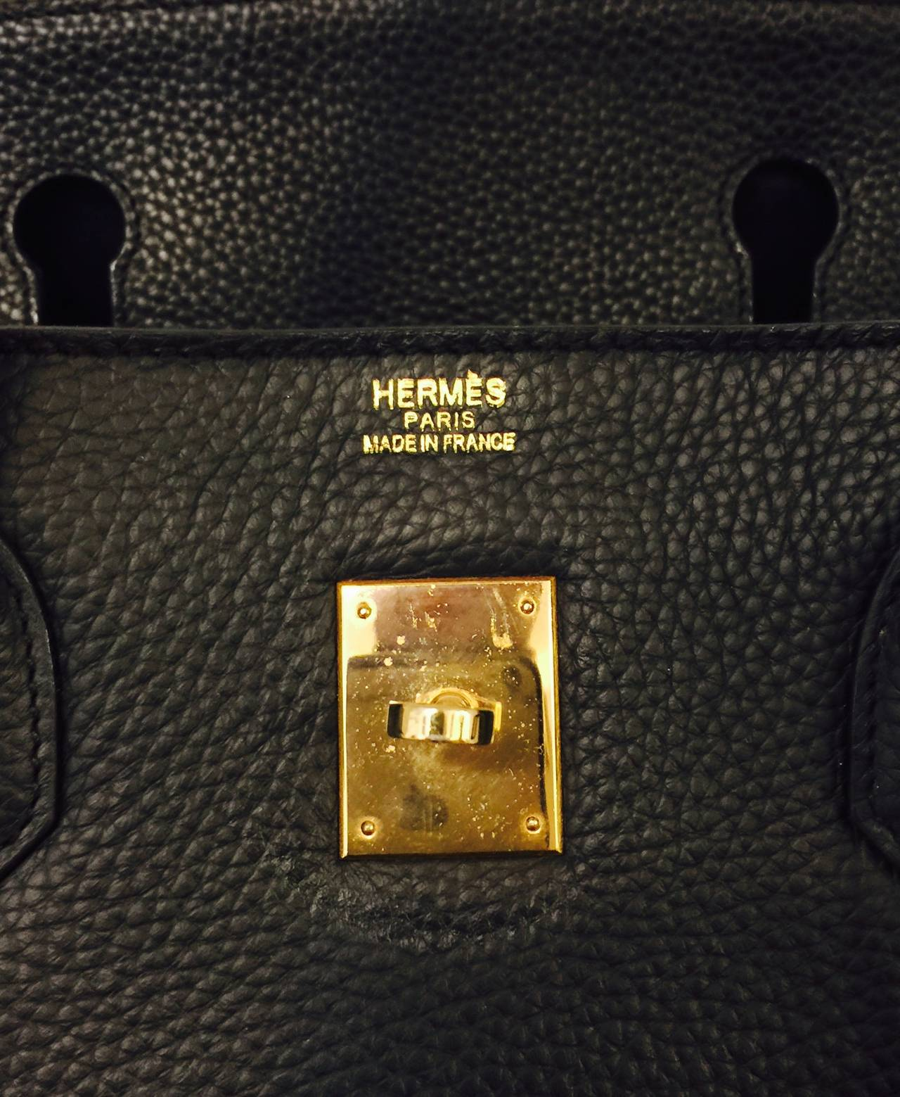 2010 Hermès Black Birkin Togo 40 With Gold Hardware 8