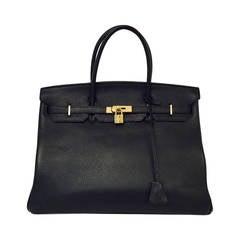 2010 Hermès Black Birkin Togo 40 With Gold Hardware