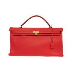 2008 Hermes Kelly Red Togo Bag 50