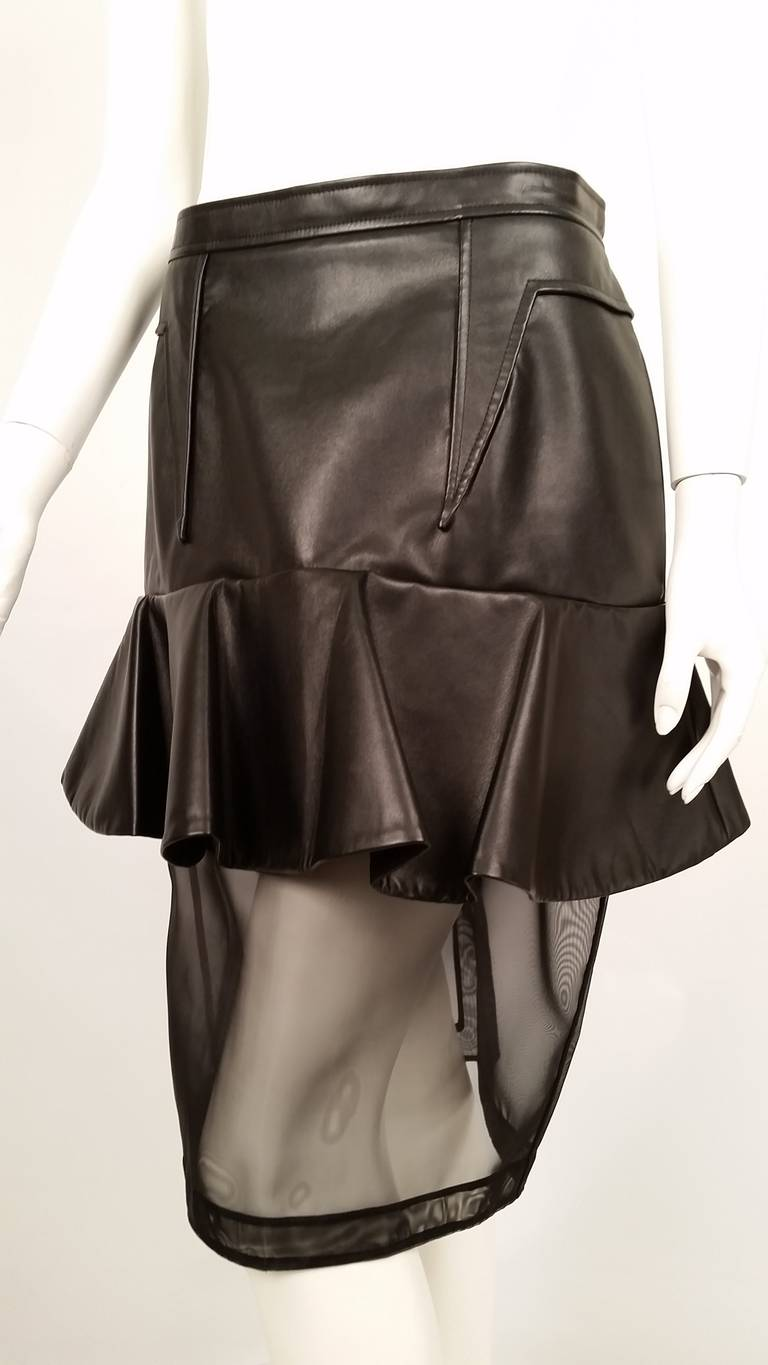 New Givenchy Fashion-Forward Peplum Skirt with Nylon Net Bottom In New Never_worn Condition For Sale In Palm Beach, FL