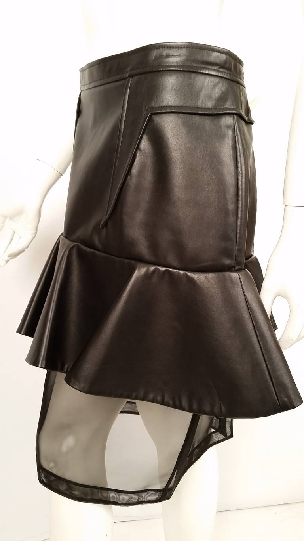 Women's New Givenchy Fashion-Forward Peplum Skirt with Nylon Net Bottom For Sale