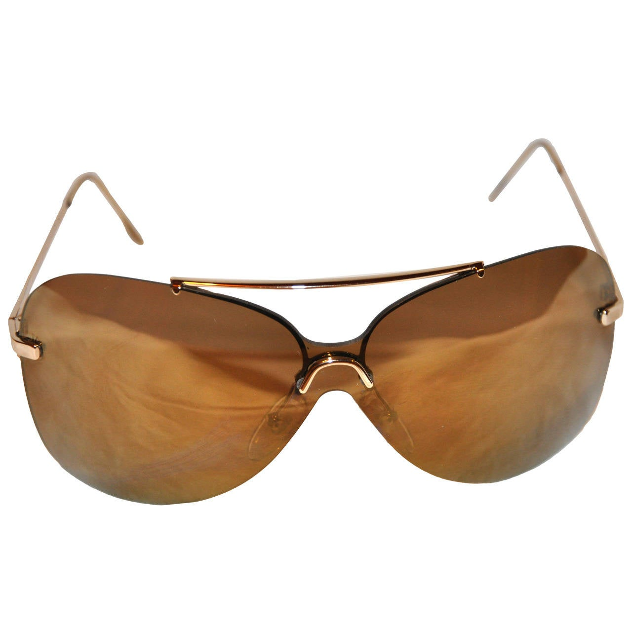 Christian Dior Gold Mirrored with Gold Hardware Sunglasses 1