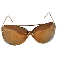 Christian Dior Gold Mirrored with Gold Hardware Sunglasses