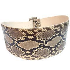 Exotic Python Wide Cummerbund Style Belt