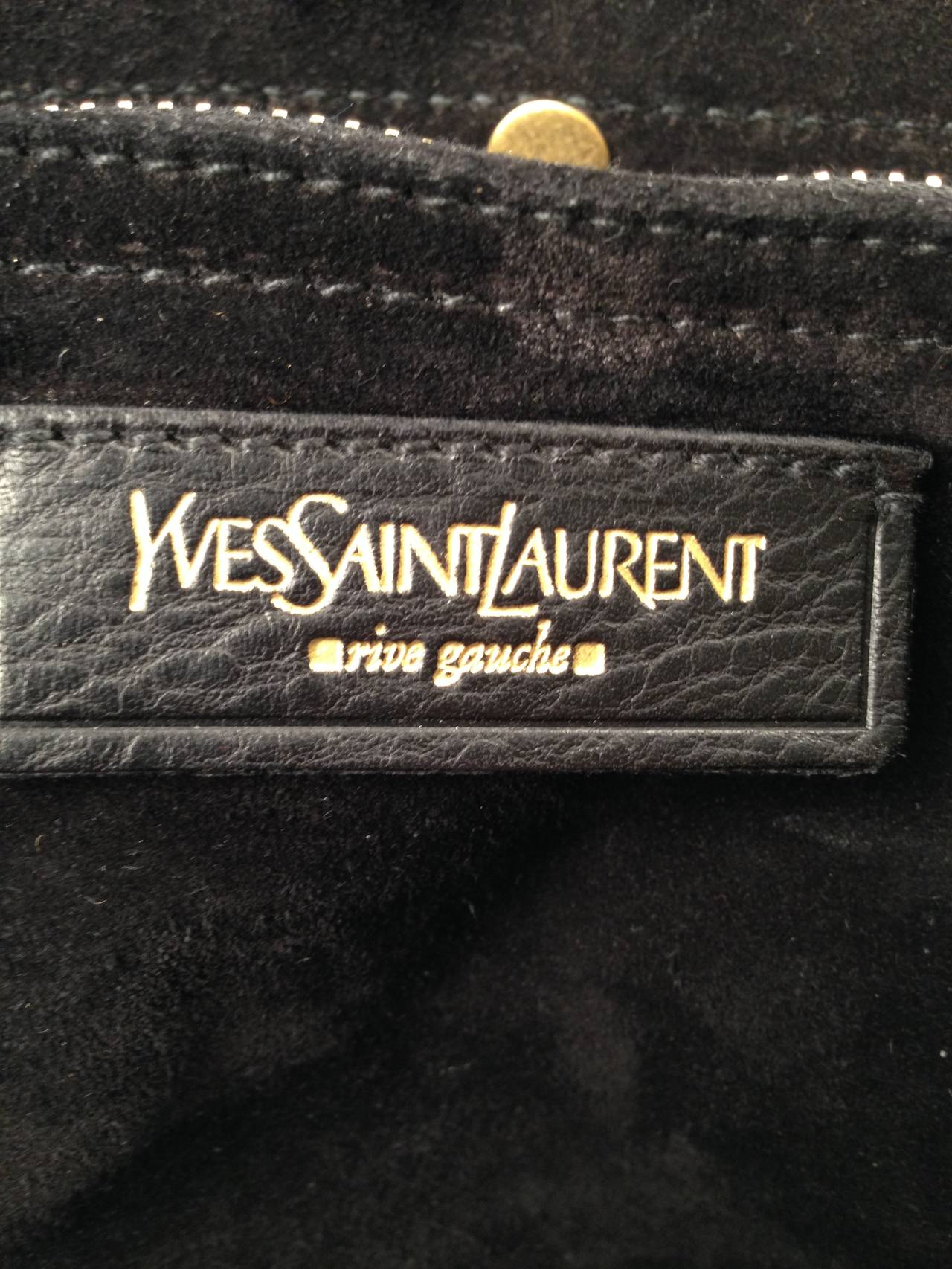 Yves Saint Laurent Rive Gauche Leather and Pony Hair Tote For Sale ...