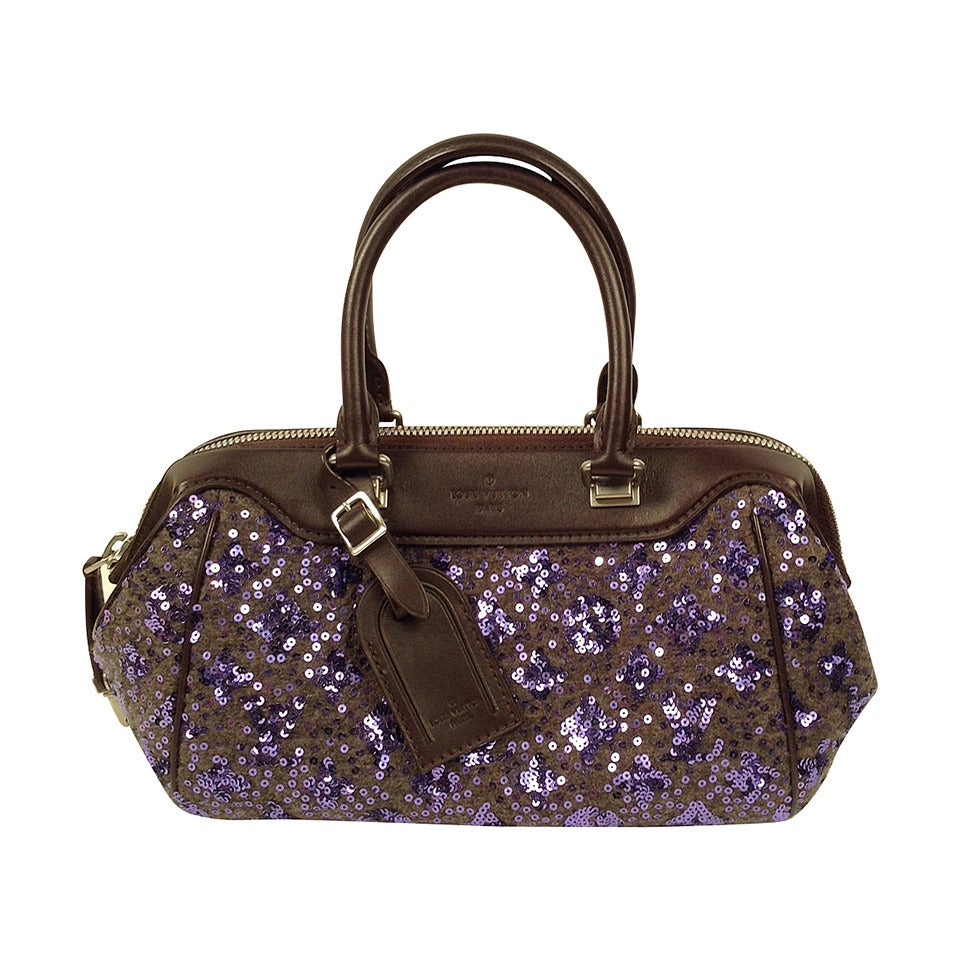 Louis Vuitton Limited Edition Purple Monogram Sunshine Express Baby Bag