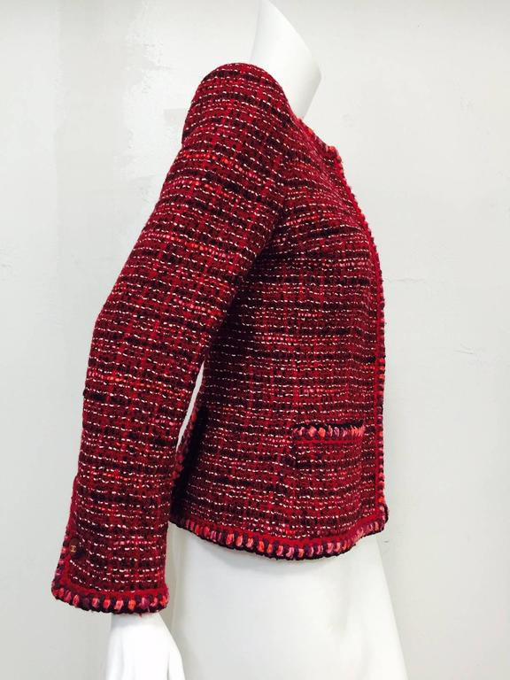 Chanel Fall Cranberry Tweed Jacket  2