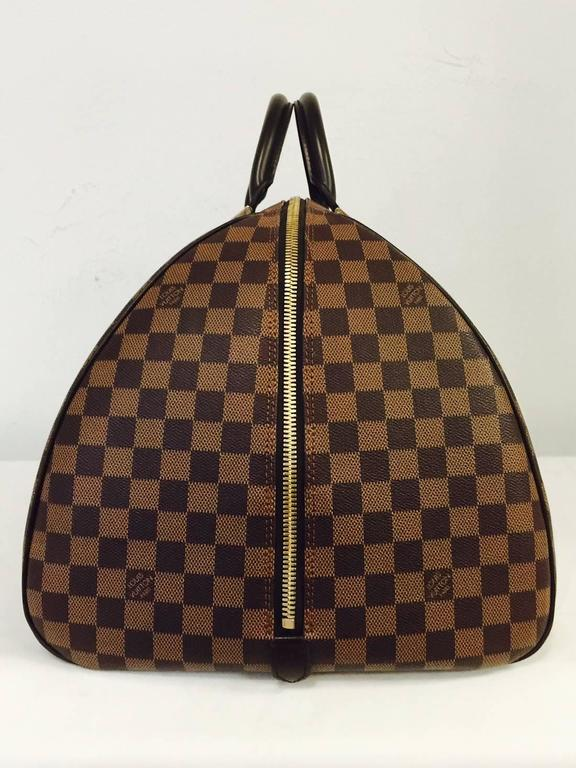 Women's or Men's Louis Vuitton Damier Ebene Coated Canvas Ribera Weekender GM  For Sale