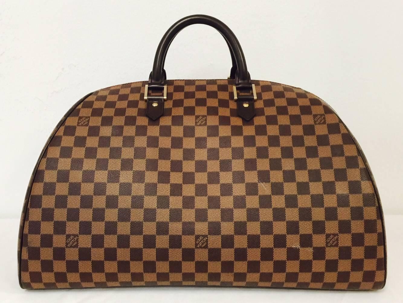 louis vuitton damier ebene coated canvas ribera weekender gm at 1stdibs. Black Bedroom Furniture Sets. Home Design Ideas