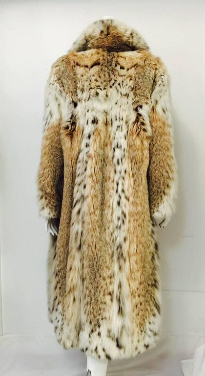 Beige Luxurious Full-Length Natural Lynx Coat  For Sale