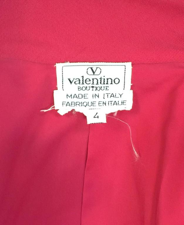 Valentino Fuschia Fitted Wool Jacket With Gold Tone Tassel Butttons For Sale 1
