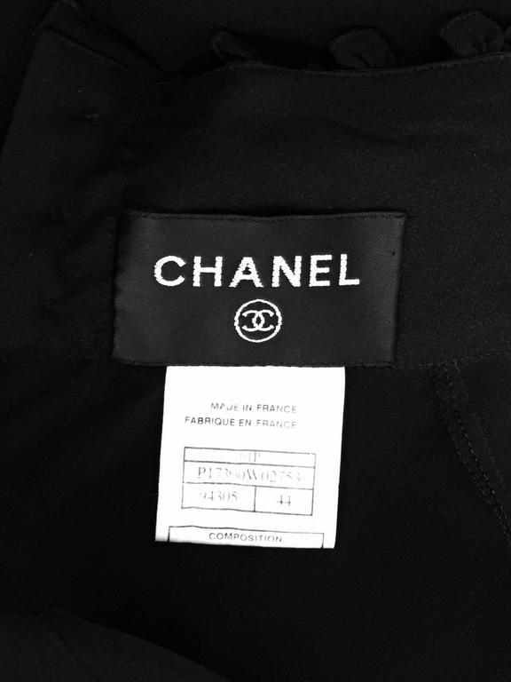 New Chanel Spring 2001 Black Sheer Silk Blouse With Knit Spaghetti Strap Tank  9