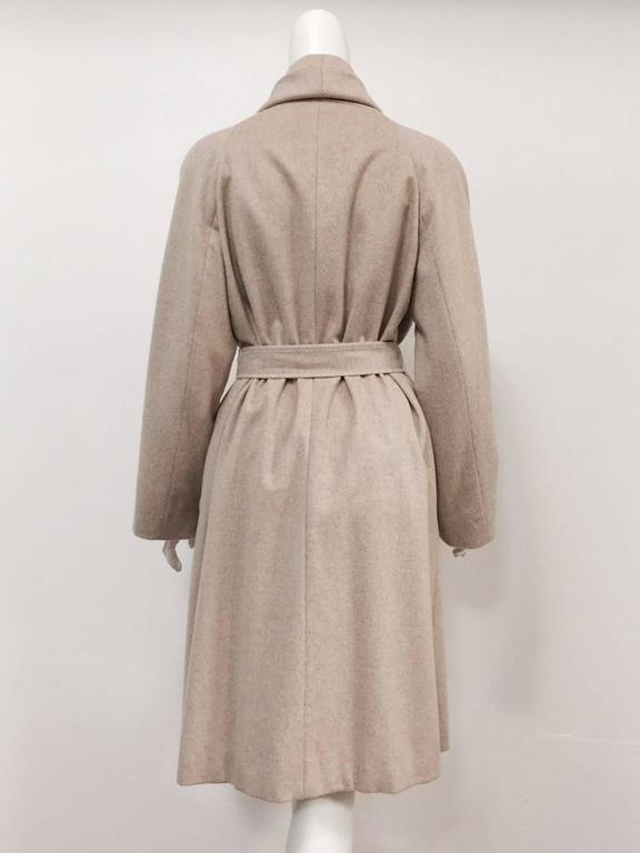 Brown Max Mara 100% Cashmere Belted Coat With Shawl Collar  For Sale