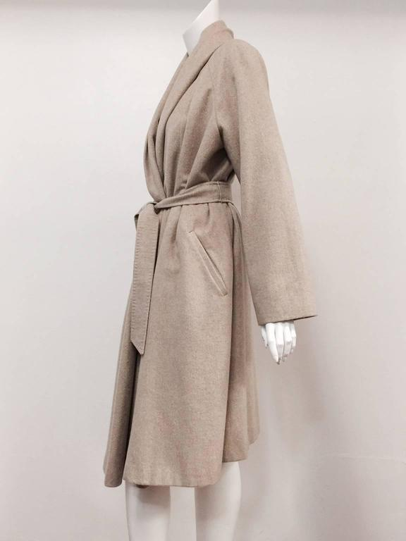 Max Mara 100% Cashmere Belted Coat With Shawl Collar  In Excellent Condition For Sale In Palm Beach, FL