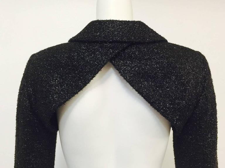 Moschino Couture Black Metallic Bolero With Frog Closure 2