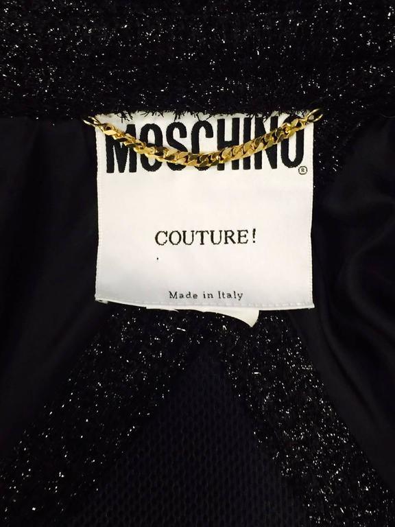 Moschino Couture Black Metallic Bolero With Frog Closure 4
