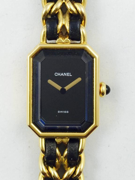 1987 Chanel Gold Tone Premiere Quartz Watch Medium 3