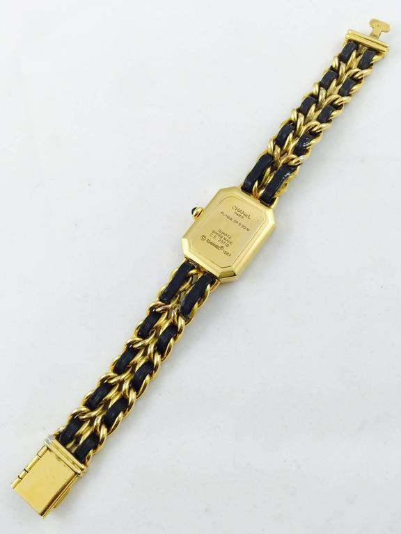1987 Chanel Gold Tone Premiere Quartz Watch Medium 2