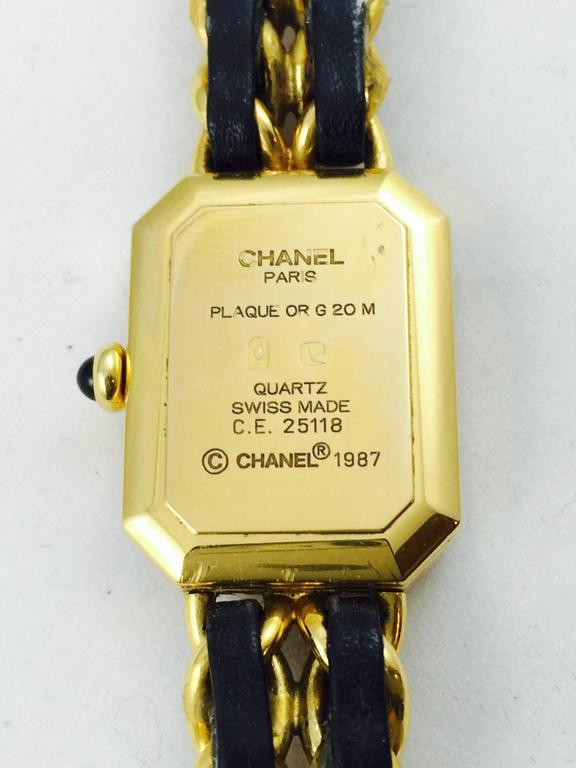 1987 Chanel Gold Tone Premiere Quartz Watch Medium 4