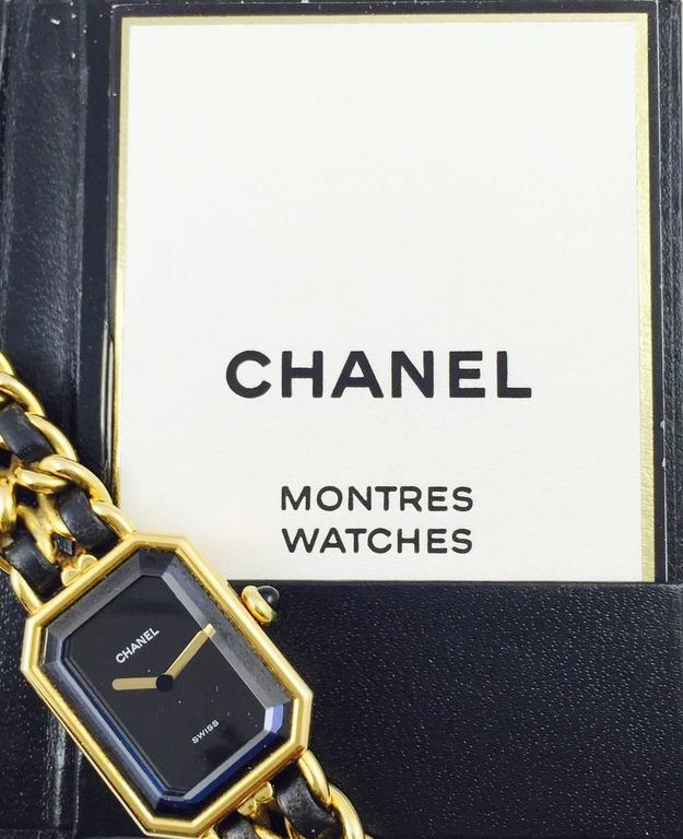 1987 Chanel Gold Tone Premiere Quartz Watch Medium 5
