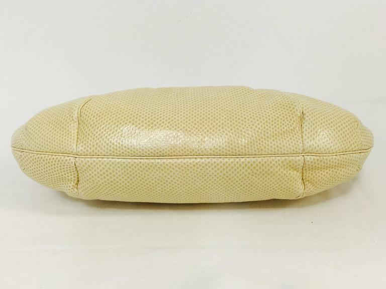 Vintage Judith Leiber Bejeweled Tan Lizard Convertible Clutch  In Excellent Condition For Sale In Palm Beach, FL