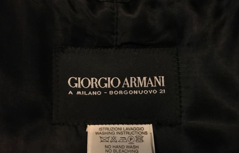Men S Giorgio Armani Black Label Raincoat In Aubergine At