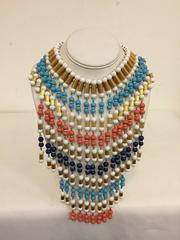 Wonderful William DeLillo Bead Bib Necklace 1960's