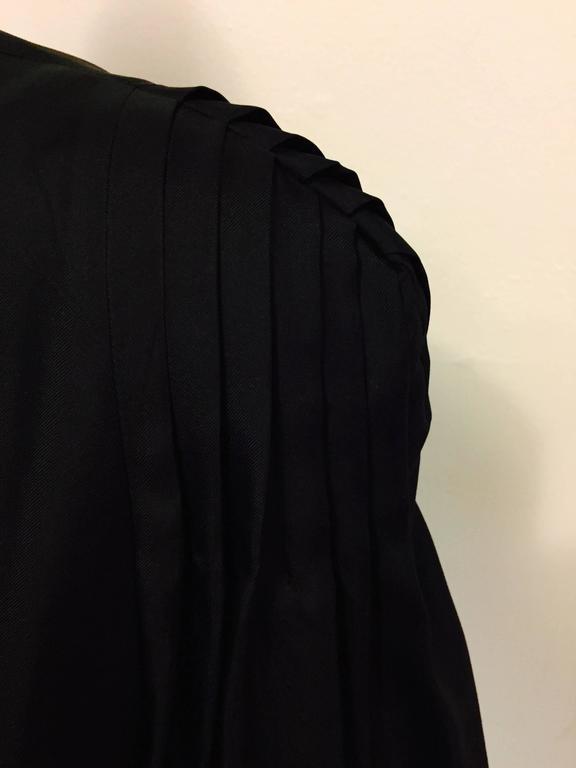 Elegant and Romantic Escada Black Silk Poetess Blouse  For Sale 2