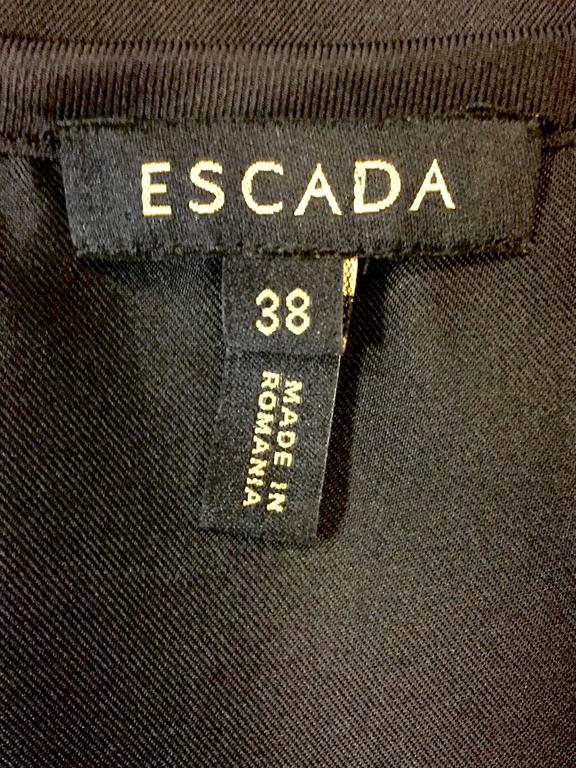 Elegant and Romantic Escada Black Silk Poetess Blouse  For Sale 3