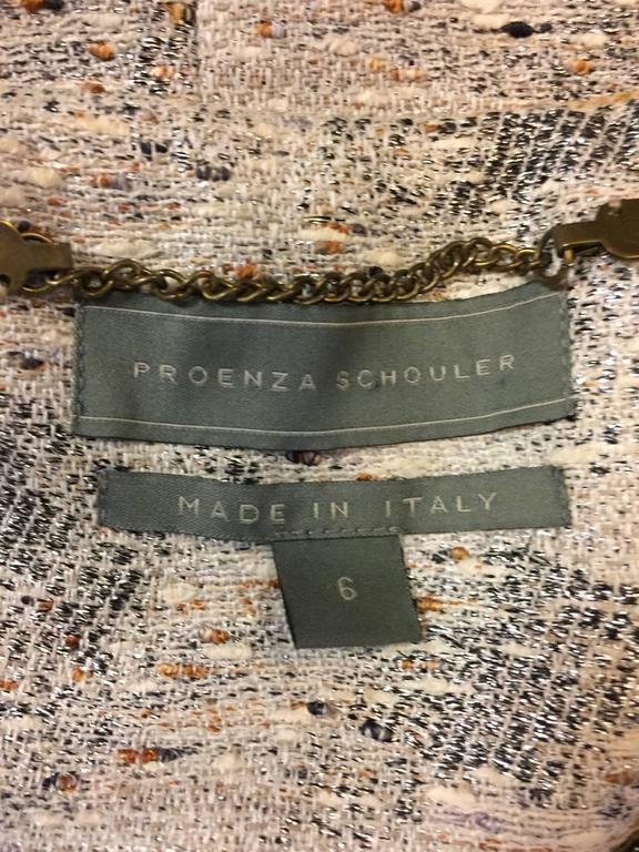 Progressive Proenza Schouler's Saavy Grey/Silver and Beaded Jacket  5